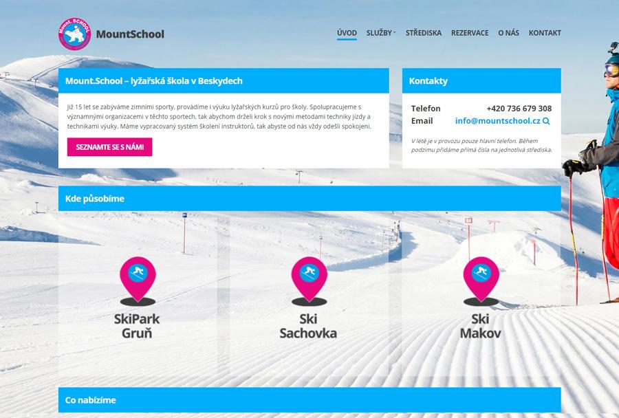 MountSchool.cz - tvorba internetových stránek Pixify.cz