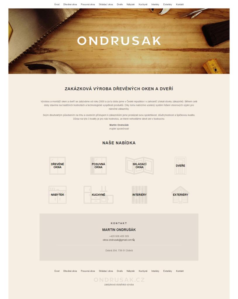Pixify.cz - tvorba internetových stránek - Martin Ondrušák